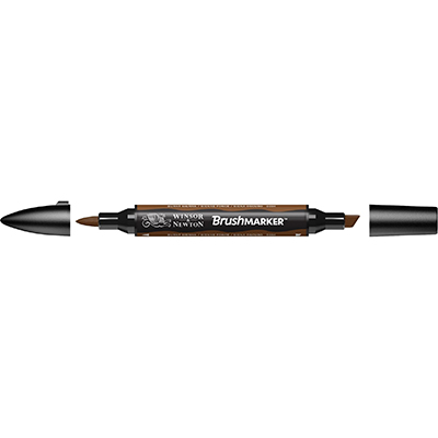 MARKER W&N BRUSH MARKER BURNT SIENNA (O324)