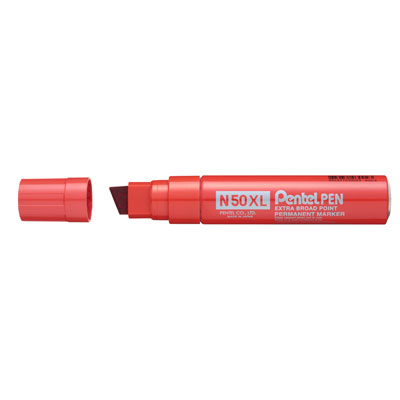 MARKER PENTEL PEN N50XL EXTRA LARGE ROSSO
