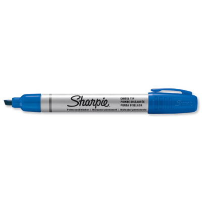 MARKER SHARPIE SMALL METAL BARREL PUNTA SCALPELLO BLU