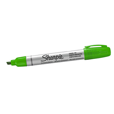 MARKER SHARPIE SMALL METAL BARREL PUNTA SCALPELLO VERDE